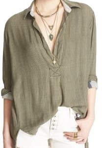 Free People On the Road Stripe Tunic Top  Size S